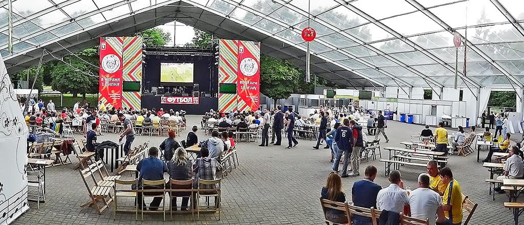 Presentation in the RÖDER mobile tent