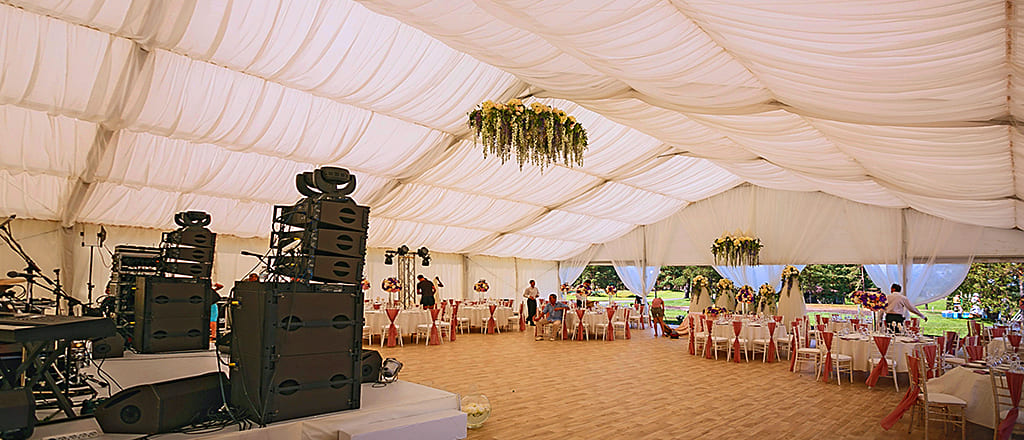 Corporate event in the tent of B-TENTS series
