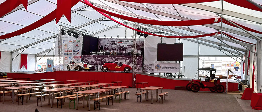 Large exhibition areas from B-TENTS