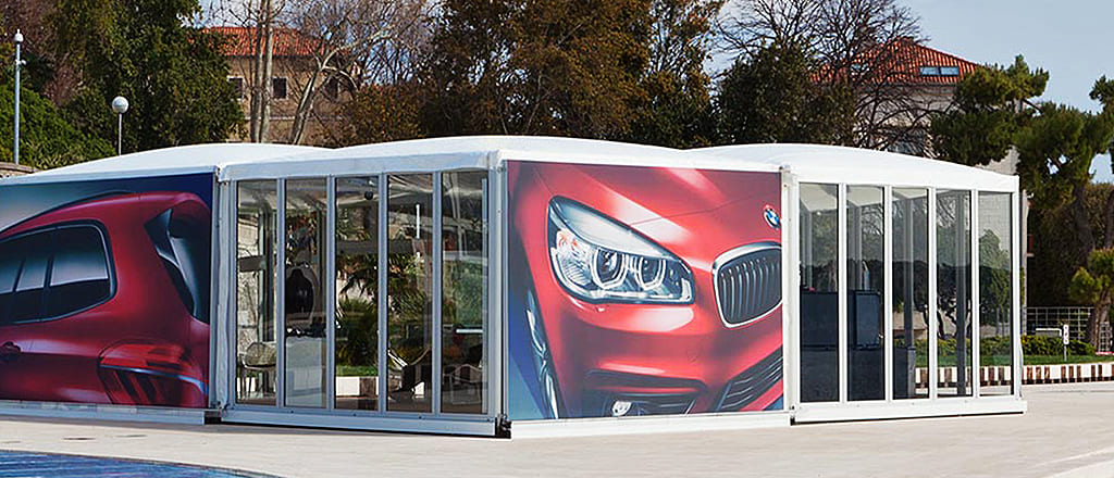 Presentation of BMW in the CUPOLA tents