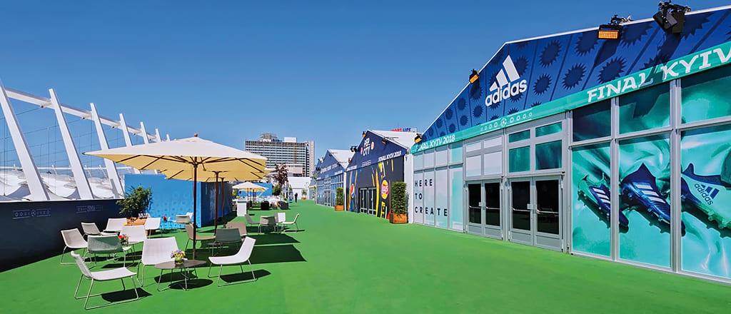 Эскизный проект VIP-зоны палаточного городка ЛЧ УЕФА 2018