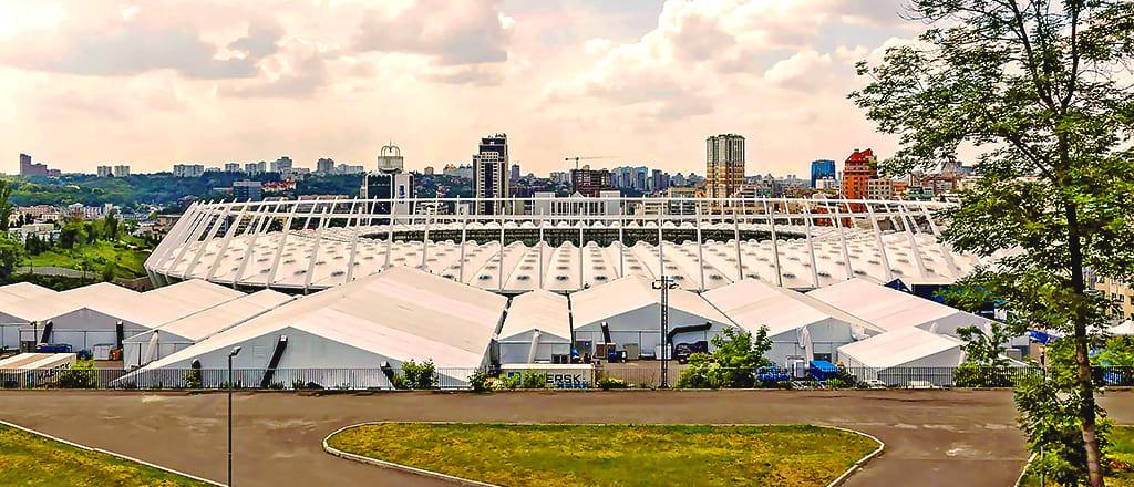 Палаточный городок для Лиги Чемпионов 2018 Киев